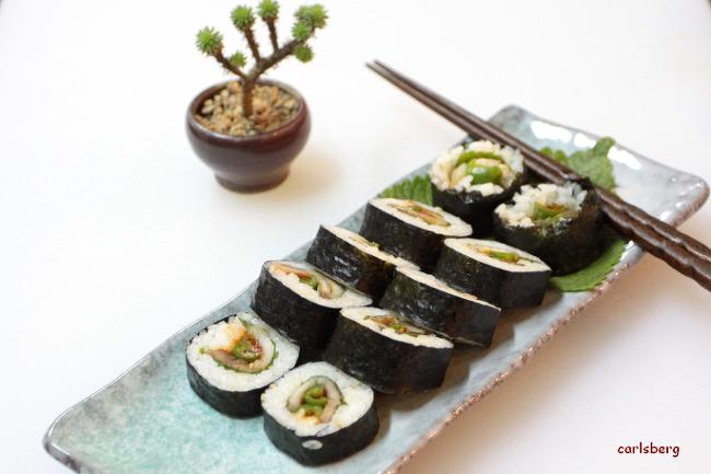 삼겹살이 김밥속으로 쏘옥 - 삼겹살김밥
